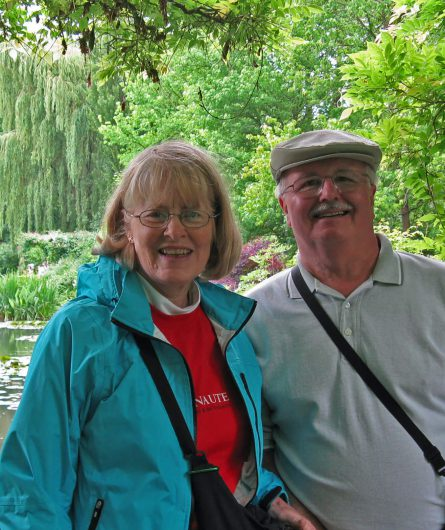 A Willamette View couple traveling in Giverny, France
